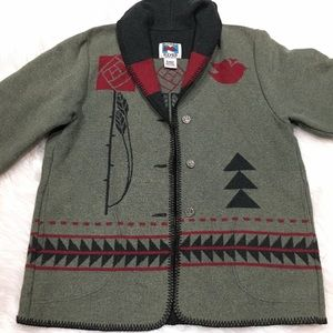 Other - Wooded River coat made in Idaho USA bird buttons
